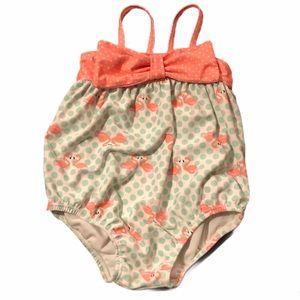 Flamingo One Piece Baby Swim Suit